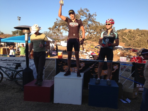 Ryan gets first in Single Speed open.