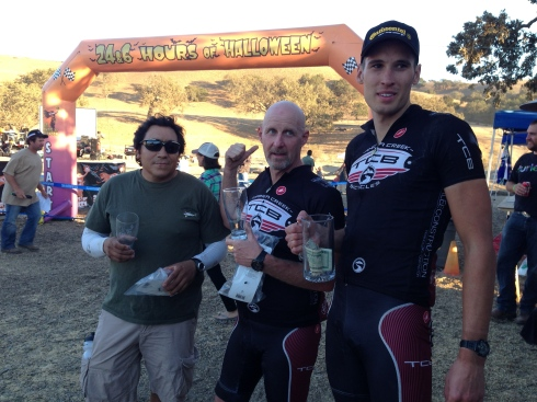 Ryan gets first in Open Single Speed, Chris gets 2nd in Single Speed Masters, Berni gets 2nd in Open Masters.